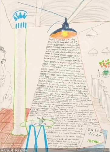 HOCKNEY David - 1) Look at Hockney; 2) David Hockney; 3), 4) Salts Diner Menu; 5) David Hockney: Museum Boijmans Van Beuninge