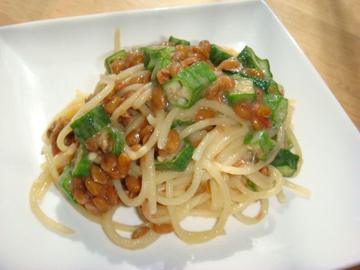 オクラ納豆梅パスタ by mikiha5 [クックパッド] 簡単おいしいみんなのレシピが222万品