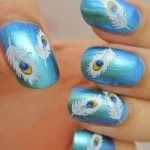 New Nails 2014 With Peacock Style
