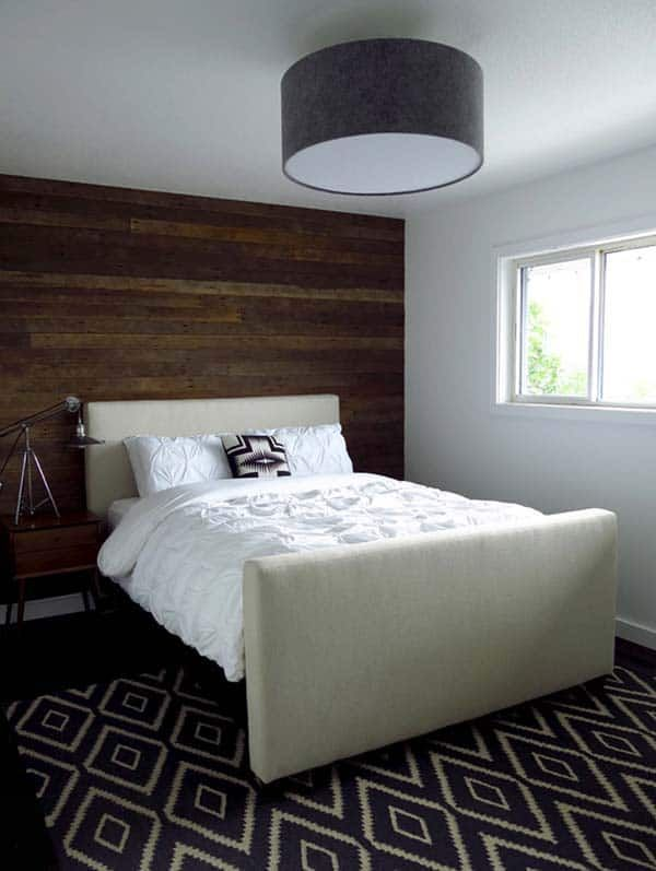 26 Awesome Bedrooms With Wood Clad Walls In 2020 Feature Wall Bedroom Wood Accent Wall Bedroom Reclaimed Wood Bedroom Set