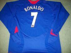 2005 2006 Manchester United Ronaldo Away L/s Classic Football Shirt Adults XXL Vintage Soccer Jersey