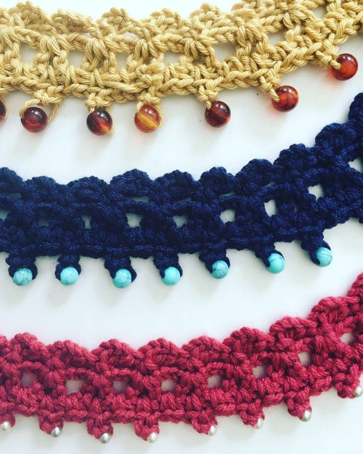 Beaded Crochet Choker Easy Video Tutorial By AnnooCrochet Designs