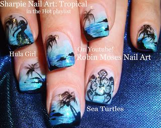 Tropical & Trendy Teal Nails to Try! Summer Nail Art To Celebrate the Sun!
