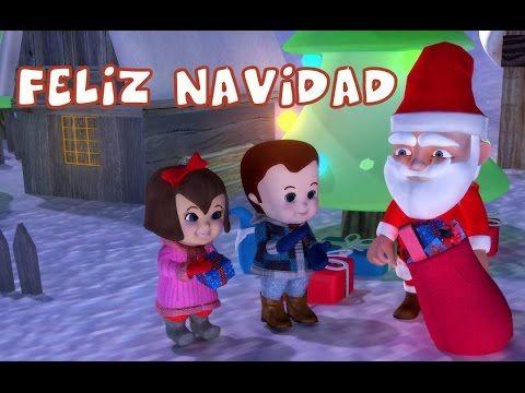 Feliz Navidad With Lyrics | Popular Christmas Carols For Kids - YouTube