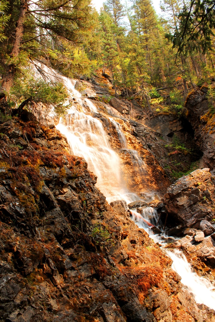 Morrell falls near seeley lake mt