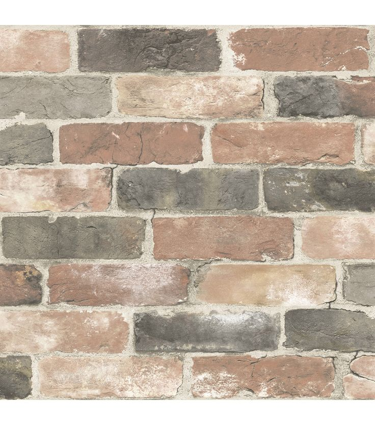 WallPops® NuWallpaper™ Peel and Stick Wallpaper-Newport Reclaimed Brick   The NuWallpaper brings a classic, rustic touch to your decor in an easy to use peel and stick wallpaper. Great for refinishing an apartment or rental home.   Home Decor   Brick Wallpaper   Brick Home Decor