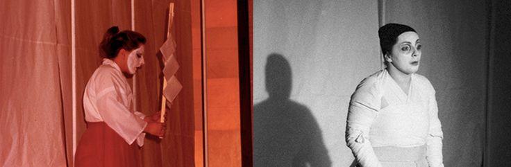 LO SPIRITO DELL'UOMO MORTO  bn: Scene, costumi e luci di Renato Morselli. col: Costumi di Sakura Fujita, scene e nuove luci di Renato Morselli