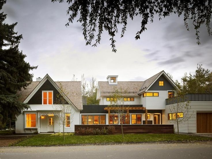 This Victorian In Aspen Has White Siding, Gabled Roofs, Linear Windows, A  Connection