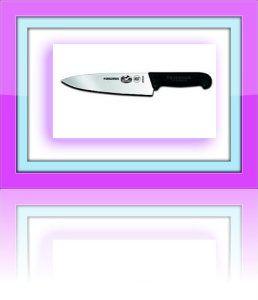 Victorinox Fibrox 8-Inch Chef's Knife 40520 The King of Knives The Victorinox Fibrox ( Also known as Forschner) 8-Inch is a multipurpose chef's knife. The blade is 20 cm (8 inch) and is 5 cm (2 inch) wide at the handle. It is High carbon, stainless steel blade, hand finished, at Victorinox in Switzerland. http://theceramicchefknives.com/best-chef-knives/ Damascus steel blade, Global G-2 Chef's Knife, hand-hammered, hand-hammered Damascus steel blade, Molybdenum, pakka wood,