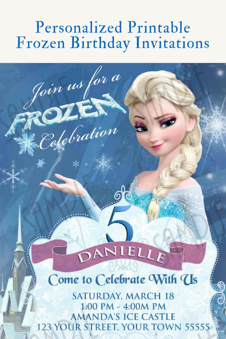 The 25+ best Elsa birthday invitations ideas on Pinterest   Olaf ...