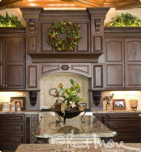 custom vent hoods by kent moore cabinets rustic maple wood with hearty rye stain with ebony. Black Bedroom Furniture Sets. Home Design Ideas
