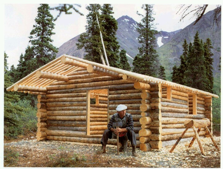 Alone In The Wilderness, Building A Tiny Home Log Cabin.