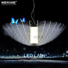 Красивая бабочка LED Люстры светильник белый акрил светодиодные лампы для столовой Гостиная Современная Люстра Освещение(China (Mainland))