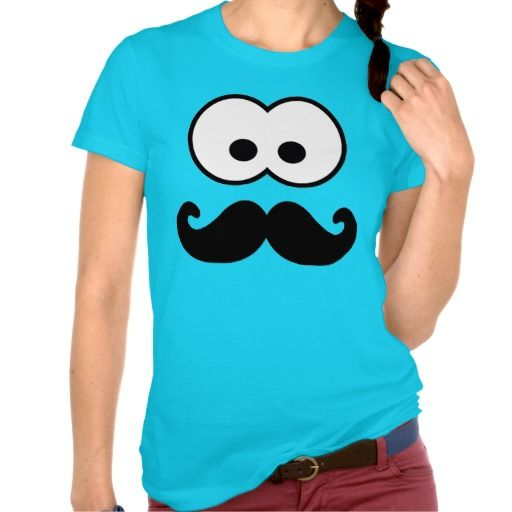 Silly Moustache Face T-shirt