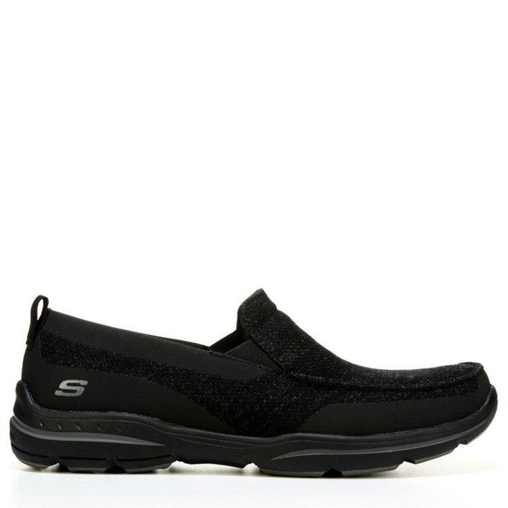 skechers memory foam mens. skechers men\u0027s moven relaxed fit memory foam slip on shoes (black) mens k