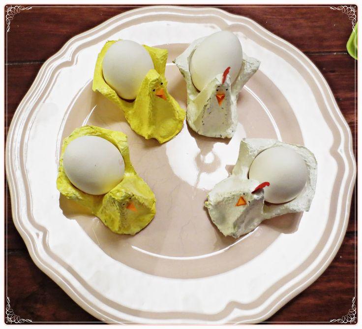 Kickis sytt nytt och nött: Hönor och kycklingar, pyssel av äggkartong med bar...
