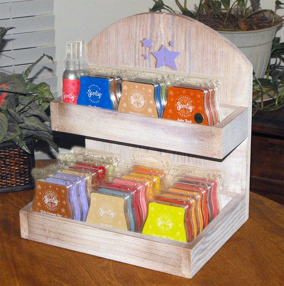 Scented Wax Bar Display made for Scentsy Plugin Warmers Rustic, Weathered, White Washed Design via Etsy