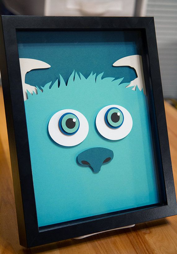 Artisanat en papier 3D handcut Sully Monsters Inc 8 x 11
