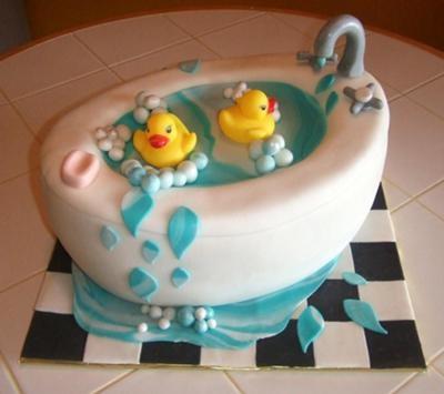 bathtub cake with rubber ducks duckies pinterest rubber ducky cake rubber duck and cake. Black Bedroom Furniture Sets. Home Design Ideas