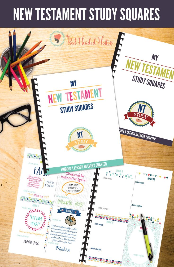 New Testament Study Squares! These are so cute! There is a square for each chapter in the New Testament and you can write a lesson, doodle a phrase, draw a picture - whatever you want. So great!