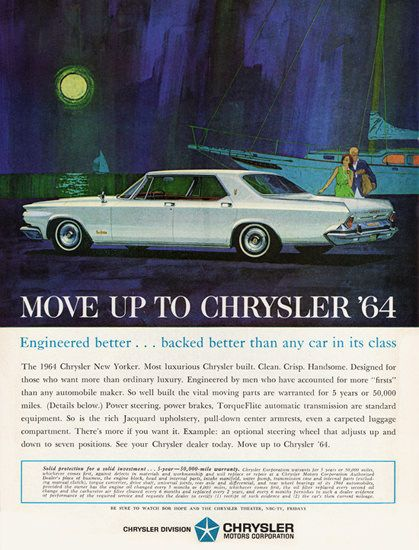Chrysler New Yorker 1964 Harbor Sunset - Mad Men Art: The 1891-1970 Vintage Advertisement Art Collection