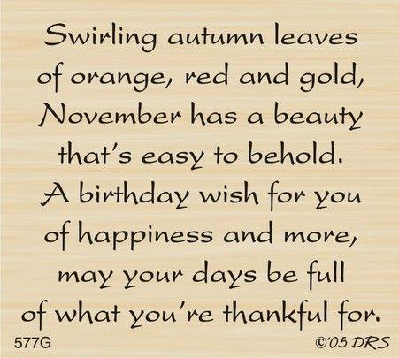 November Birthday Greeting - DRS Designs