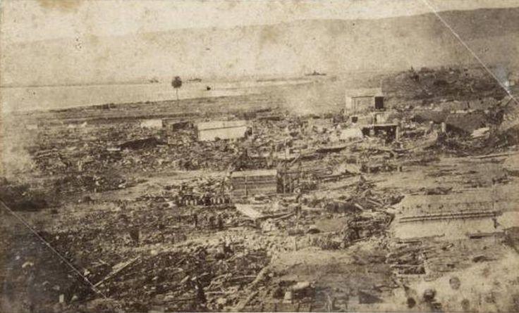 Fotografía despues del terremoto, Arica 1868