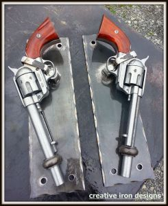 Ever wonder who makes door handles out of guns? We do! Creative Iron Designs & 112 best Things I have made for someone... images on Pinterest ...