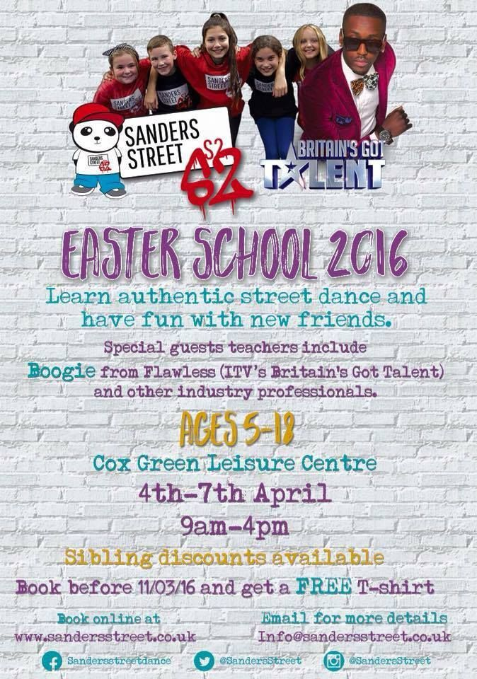 33 best maidenhead easter family fun 2016 images on pinterest sanders street dance easter school classes for 5 18yr olds 4th 7th april negle Gallery