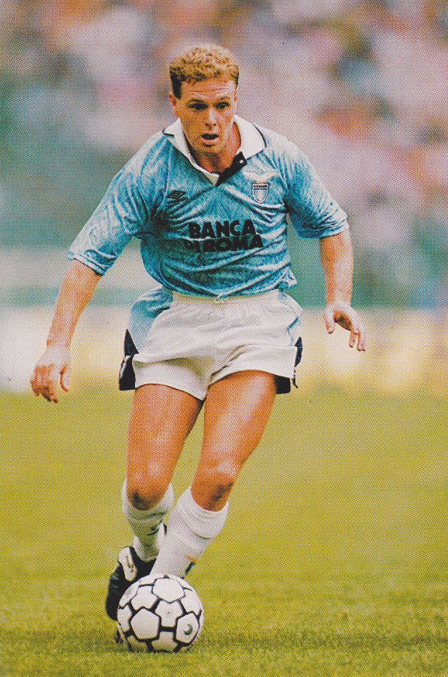 Football Photo PAUL GASCOIGNE Lazio 1992-93