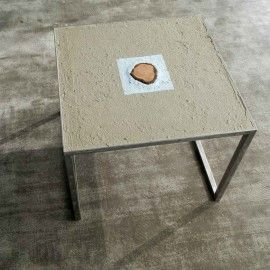 Low Table Iron and Concrete by DIMA art& Design. Interior design small table