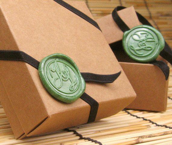 Hochzeit Gunst Box Kraft-Square-Geschenkbox von alfredesignstudio