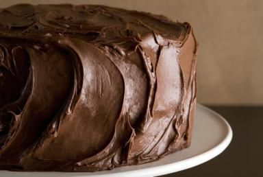 Chocolate Sour Cream Cake with Chocolate Butter Frosting