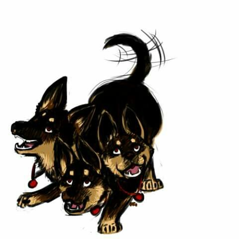 Just a place-holder. How could I forget Cerberus? Not sure what kind of dog.