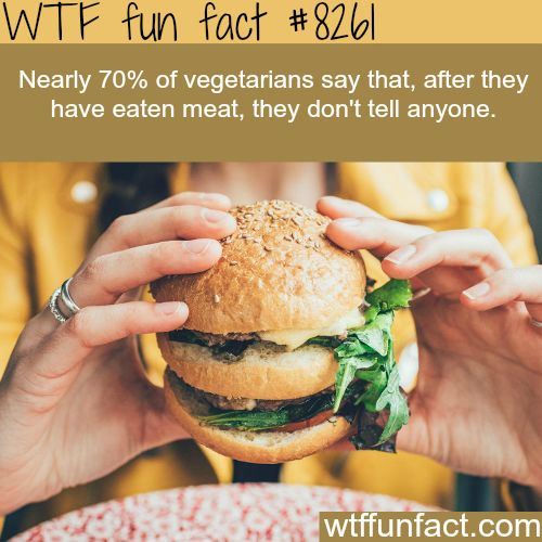 Vegetarians wont tell you if they ever eat meat  WTF fun