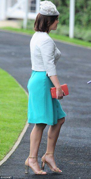 Princesa Eugenie se dirige al palco real en Ascot