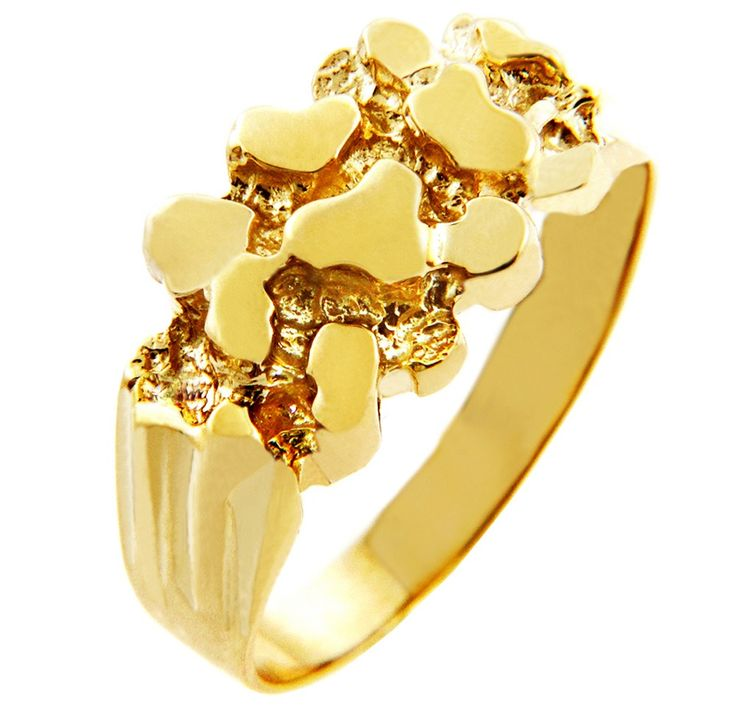 Rock Solid Gold Nug Ring