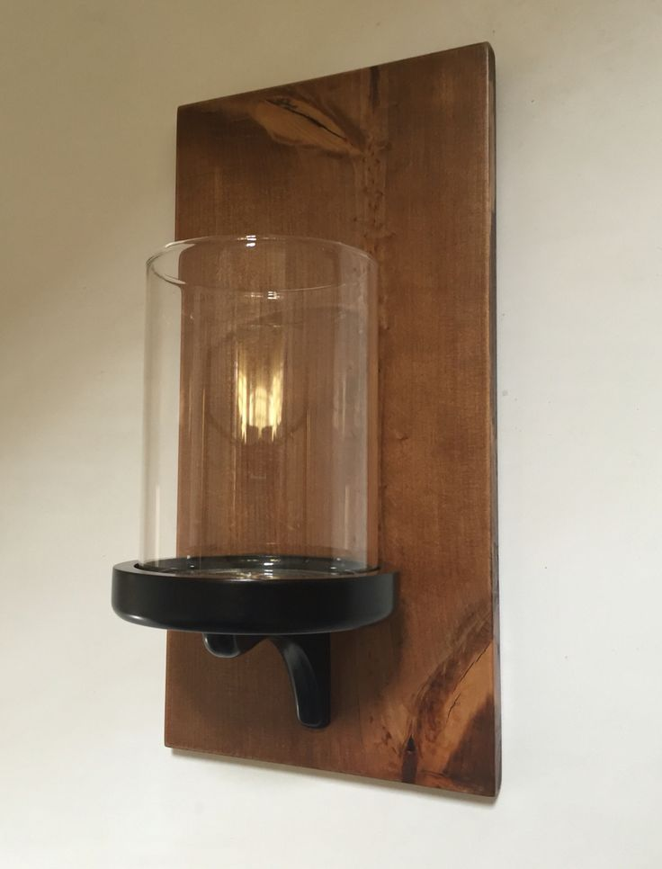 Sconce made from rustic wood Handy made  By me