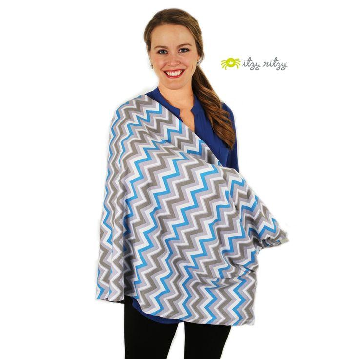 Муслиновый шарф для кормления Itzy Ritzy Sweet Dreamcatcher, Blue - Ju-Ju-Be