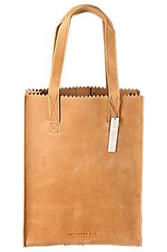 My Paper Bag leren tas.