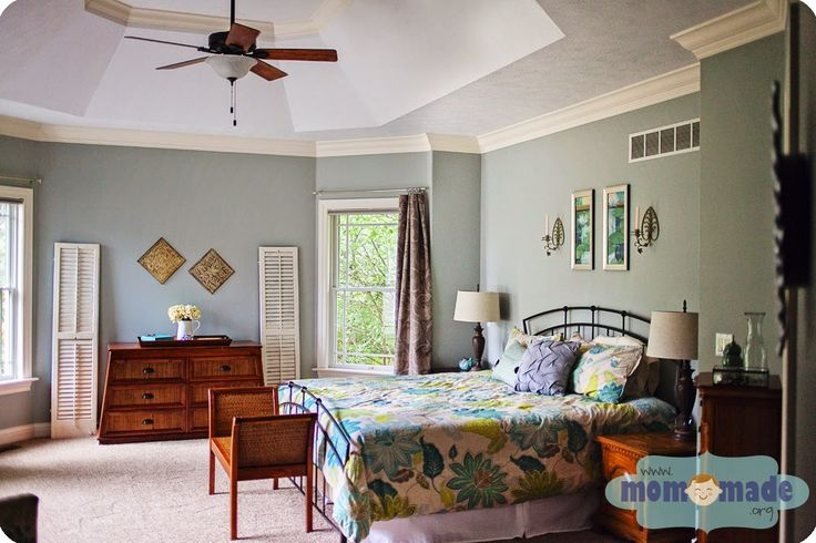 Mom Made Sewing Shop Master Bedroom Tour Our Slightly Rustic Master Bedroom Using Sherwin