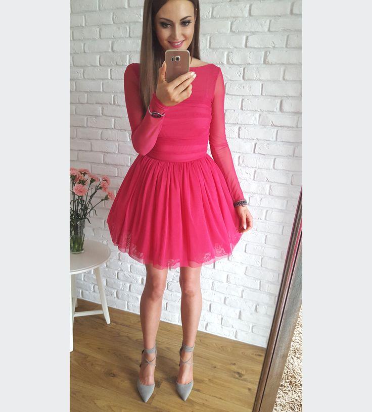 Tulle raspberry dress / Tiulowa malinowa sukienka na wesele 269 zł www.illuminate.pl
