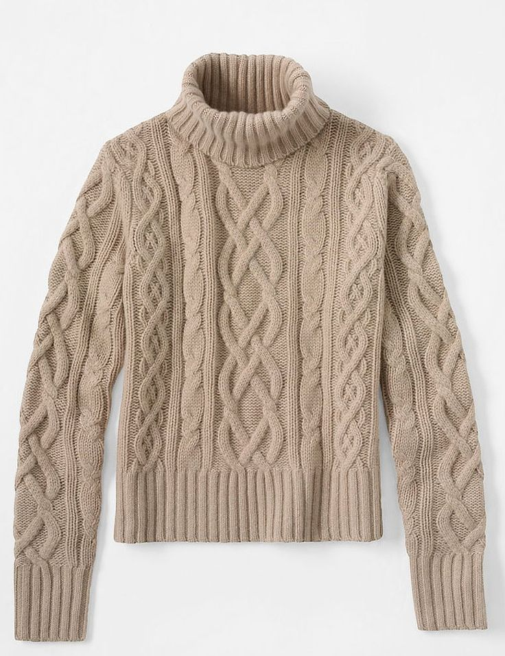 """Land's End's Women's Cashmere Aran Turtleneck and Men's Cashmere Cable Crew ($369) are available for both men and women. """"These are great sweaters for Christmas morning,"""" Oprah says."""