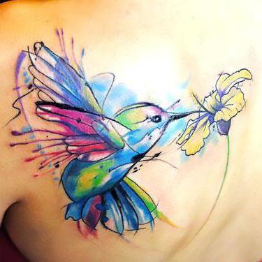 Hummingbird Tattoo on Shoulder Blade Tattoo Idea