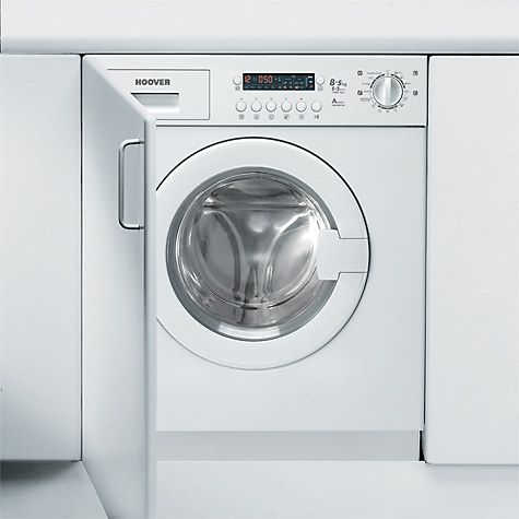 Buy Hoover HDB854DN/1 Integrated Washer Dryer, 8kg Wash/5kg Dry Load, A Energy Rating, 1400rpm Spin, White Online at johnlewis.com