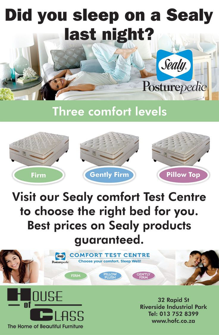 As seen in printed media come choose the right bed for you at our Sealy Sleep Centre. We will advice you on the best bed for plus you 3 comfort levels to choose from.  Did you sleep on a Sealy last night?  #sealymattress   #sealy   #sleepcentre   #houseofclass   #mbombela   #nelspruit   #mpumalanga   #printedmedia   #advertising