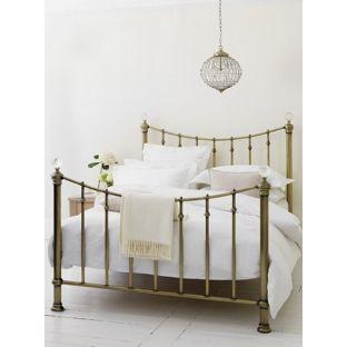 Buy Schreiber Oborne Metal Double Bed Frame - Brass/Crystal at Argos.co.uk - Your Online Shop for Bed frames, Bed frames.