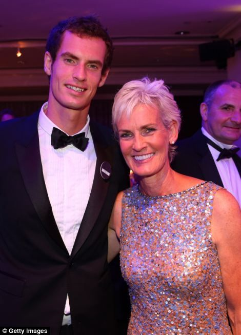 Gentlemen's Singles Champion Andy Murray of Great Britain poses with his mum Judy Murray