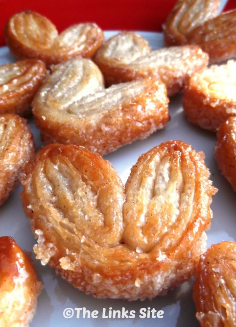Sweet and Crunchy Cinnamon Palmiers - The Links Site