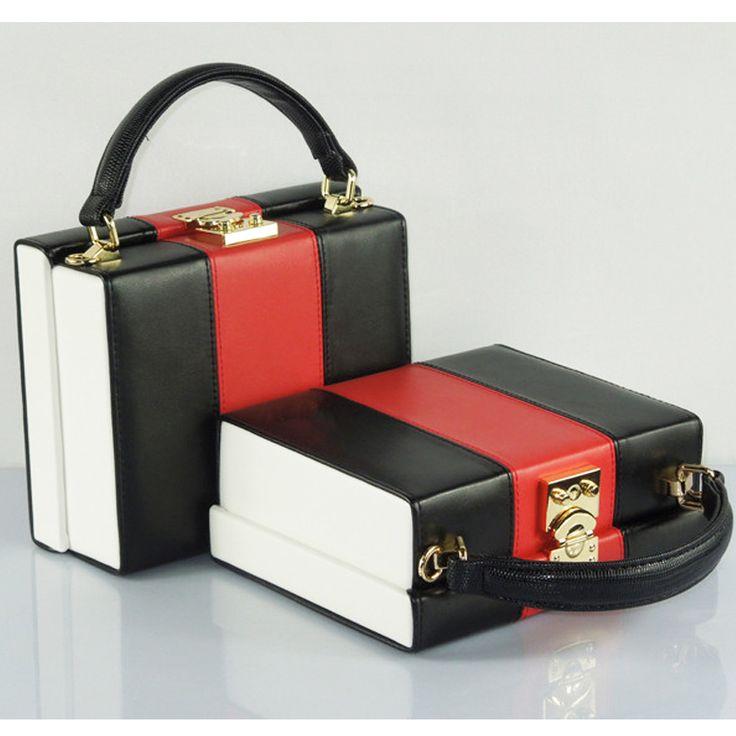 Новинка новое дизайн классический хит цвет красный и черный ящик берлин старинные повелительницы сумка мешок щитка купить на AliExpress